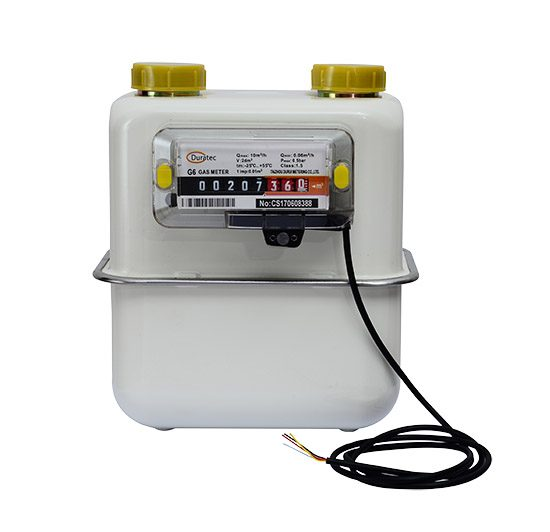 Pulse output gas meter
